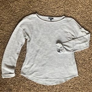 TOPSHOP Grey Sweater With Cuffed Sleeves